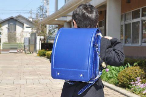 青いランドセル,小学生,男の子